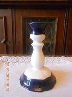 Zsolnay porcelán Pompadour gyertyatartó