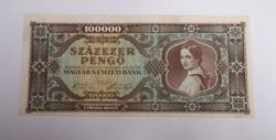 Nagyon szép 100000 pengő 1945.