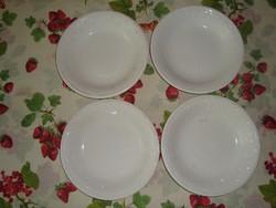 Fehér, dombormintás Gránit tányér 4 db