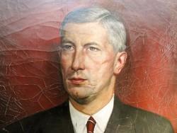 Alfred Hawel (1901-1961) Férfi portré 1939 Szignált