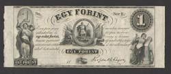 "1 forint 1852. ""B"".  RITKA!!  UNC!!"