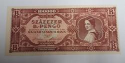 100000 b.-pengő 1946, hajtatlan aunc.