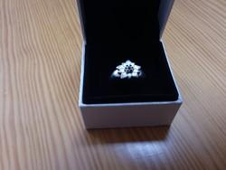 Antik ezüst havasigyopár gyűrű