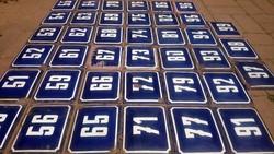 Régi,füleki kék,vastagon zománcozott számtábla házszám tábla,prágai dizájn,IZGI DEKORÁCIÓ, ajándék