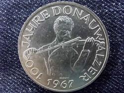 Ausztria, A Kék Duna-keringő 100. évfordulója ezüst (.900) 50 Schilling 1967/id 9555/