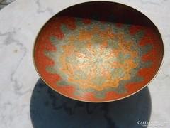 Tűzzománc  festéssel indiai asztalközép - kínáló