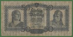 RITKA ÉS NAGYON SZÉP 50 SCHILLING 1929 AUSZTRIA ! VF