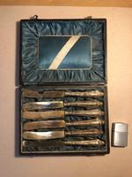 Régi kés készlet díszdobozban