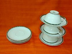 ROSENTHAL 3 kávéscsésze alátéttel + 4 darab alátét tányér