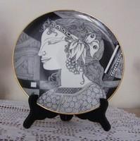 Szász Endre tányér, falitányér dobozában! 24,5 cm