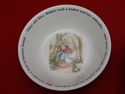 Wedgwood Beatrix Potter müzlis tál vagy kistál.