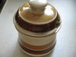 Art deco, retro antik Keramos cukor tartó