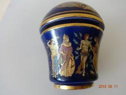 Gyönyörű, görög mintás kerámia krémparfümös tégely