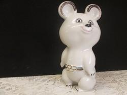 Misa mackó porcelán figura