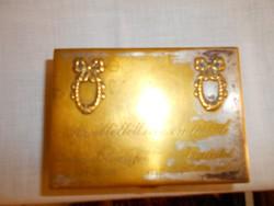 ARGENTOR(1932 év) jelzett asztali doboz  helyenként a régi ezüstözés nyomai