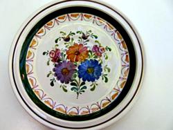 Schwarz osztrák virágos falitányér, dísztányér
