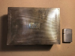 Régi ezüst szivaros doboz