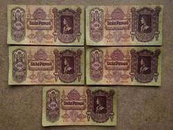 5 db magyar 100 pengő/id 8561/