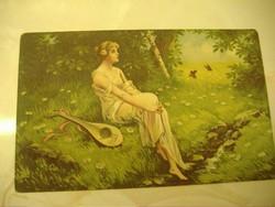 Álmodozás: 1918. antik képeslap