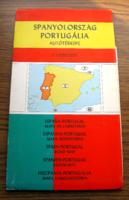 Spanyolország, Portugália autótérképe 1:1500000