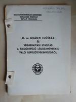 Siklórepülővel,  függővitorlázóval kapcsolatos MHSZ-s kiadványok, dokumentumok