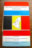 Hollandia - Belgium - Luxemburg autótérképe 1:600 000