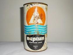 Retro festékes doboz - Neptun színtelen lakk - Budalakk gyártó - 1970-es évekből