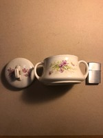 Régi osztrák porcelán cukortartó