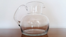Régi üvegkancsó üveg kiöntő kancsó 16 cm