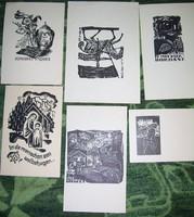 6 régi fametszet woodcut Holzschnitte