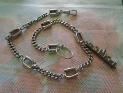 Antik Zsebóra lánc (ACÉL)Hibátlan,és nagyon szép 40 CM hosszú 2 db