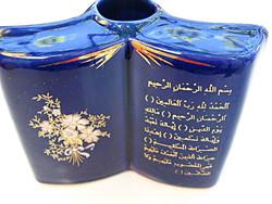 Könyv alakú zsidó vagy arab váza