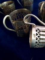 Antik 6 db jelzett ezüst pohár