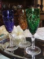 Lenyűgöző    Beyer  ólomkristály     pezsgős poharak