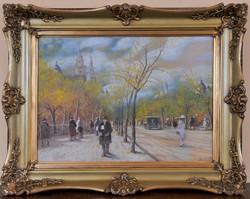 Berkes Antal (1874-1938): Tavaszi utcakép