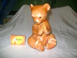 Mézes maci, mackó, medve - Bodrogkeresztúri kerámia figura, nipp