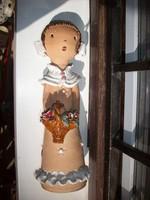Kovács Margit stílusú kerámia lányka figura