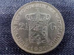 Hollandia ezüst (.720) 2.5 Gulden 1931 (id9455)