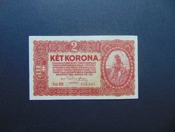 2 korona 1920 sorszám között pont szép bankjegy !!!