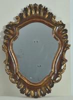 Faragott, aranyozott florentin keret tükörrel