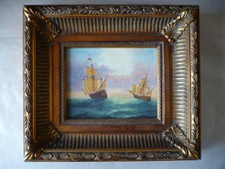 Beautiful picture of unknown painting ships