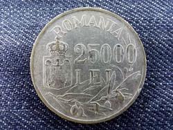 Románia I. Mihály ezüst (.700) 25000 Lej 1946/id 9453/