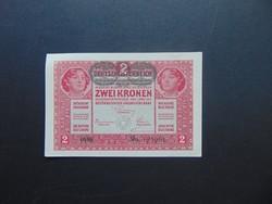 2 korona 1917 Szép bankjegy !!!  01