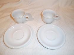 Porcelán - 4 db - Német - 2 kicsi csésze 1,5 dl - 2 db csészealj 12 cm - hibátlan