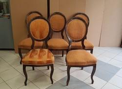 Neobarokk szék 5 db. eladó