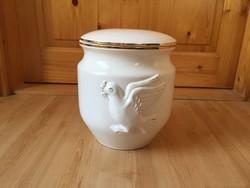 Porcelán urna váza aranyozott
