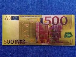 Gyönyörű arany színű plasztik dísz 500 euro (id9686)