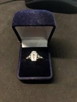 Szecessziós gyémánt gyűrű