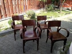 Kozma Lajos hajlított karfás székek az 1930-as évekből - gyönyörű és ritka!!!