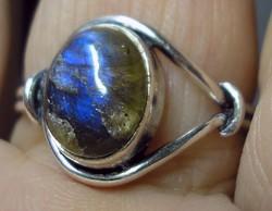 925 ezüst gyűrű 19,9/62,5 mm labradorittal